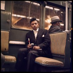noted 20th century photographer; Danny Lyon's Unseen Photos of NYC Subway Riders In The '60's... on view (& freely) for the 1st time at a Brooklyn Subway Station!
