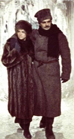Julie Christie and Omar Sharif in Doctor Zhivago (1965)