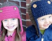 Chunky Roly Brim Hat Crochet Pattern (Permission to sell all finished products). $4.99, via Etsy.