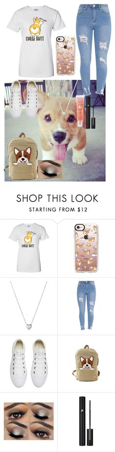 """Corgi"" by mini-lucifer ❤ liked on Polyvore featuring Corgi, Casetify, Links of London, Converse and Lancôme"