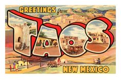 Greetings from Taos, New Mexico Posters at AllPosters.com