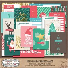 Ho Ho Holiday Journal Cards