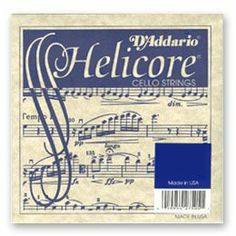 D'Addario Helicore Cello String Set, 4/4 Size - Medium by D'Addario. $107.00. Helicore Cello String Set Medium Steel core. Multi-strand, twisted steel core with a small string diameter. Provides quick bow response; warm, clear sound.