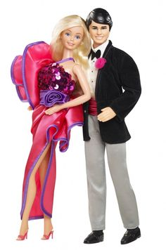 1983 Barbie & Ken - Barbie never really changes, but man - Ken's hair is as '80s as it gets.