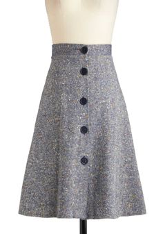 Vintage Silver Screenwriter Skirt   Mod Retro Vintage Vintage Clothes   ModCloth.com