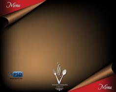 Brosur Flyer Template Gratis Download - Restaurant Menu Template Brown PSD