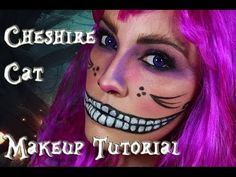 Cheshire Cat (Alice In Wonderland) Makeup Tutorial! This is really intense but it would be so cool!!