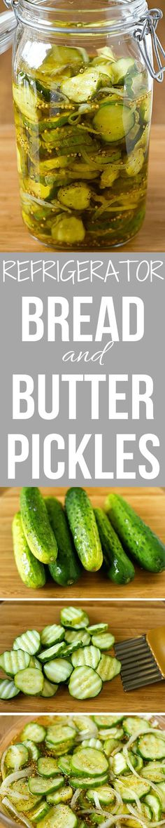 This recipe was easy and the pickles are delicious! Move to the keep pile! A wonderful, simple recipe for homemade refrigerator Bread and Butter Pickles. No canning equipment required! Just prepare and pop in the fridge! Bread & Butter Pickles, Homemade Pickles, Pickles Recipe, Canning Recipes, Kombucha, Veggie Recipes, The Best, Food To Make, Canning Equipment