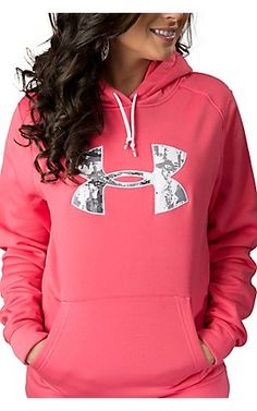 Under Armour pink and camo hoodie!! super cute