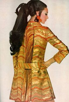 Marisa Berensonin in a dinner dress by Eloise Curtis for David Styne. Vogue, 1967.  Photo: Gianni Penati