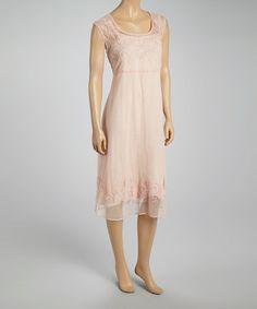 9eb0abf6725 Pink Embroidered Scoop Neck Dress  zulilyfinds Scoop