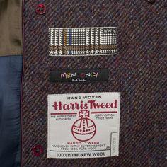 Paul Smith Coats | Double-Breasted Harris Tweed Overcoat