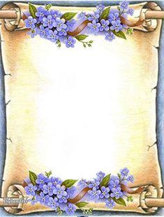 Frames – World of Flowers Page Borders Design, Border Design, Borders For Paper, Borders And Frames, Frame Background, Paper Background, Molduras Vintage, School Frame, Birthday Frames