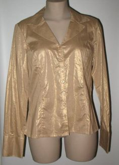 NEW! TRIBAL SPORTSWEAR Retro Look Tunic 8 - Metallic Gold #TribalSportswear #BlouseTunic #Versatile