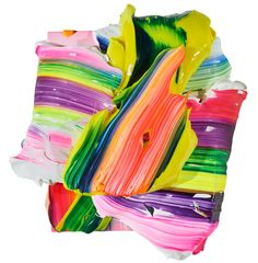 Yago Hortal (1983), painting. Yago Hortal paints in vivid, sometimes fluorescent acrylics, smearing, marbling, and splattering the material in thick, abstract brushstrokes onto large-scale white ca…