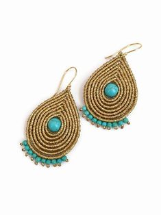 Macrame Earrings, Soutache Jewelry, Macrame Jewelry, Bohemian Jewelry, Crochet Earrings, Boho, Dangle Earrings, Handmade Jewelry Bracelets, Braided Bracelets