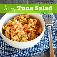 I'm finally off the miracle whip train and on the healthy good train with a healthy satisfying and super quick tuna salad recipe, made in 5 minutes in flat!