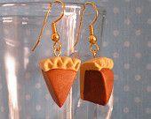 Pumpkin Pie Earrings Polymer Clay