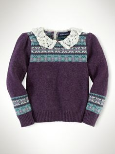Cotton-Wool Fair Isle Sweater - Girls 2-6X Sweaters - RalphLauren.com