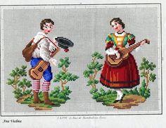 Vintage Cross Stitches, Vintage Embroidery, Beaded Embroidery, Cross Stitch Embroidery, Embroidery Patterns, Cross Stitch Patterns, Brother Innovis, Bargello Needlepoint, Victorian Pattern