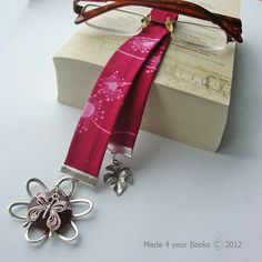 Dandelion & Butterfly Fabric Bookmark - Plum - Folksy  By Made 4 your Books