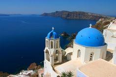 La Grèce: Quel paysage et que dire de mes spagat tomates et olives mais surtout, pour moi la mer, le bleu partout est synonyme de CALME!