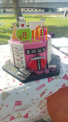 Project birthday cake for my daughter's birthday celebration Birthday Party Design, 9th Birthday Parties, My Birthday Cake, 8th Birthday, Birthday Celebration, Birthday Ideas, Project Mc2 Toys, Project Mc Square, Mad Scientist Party