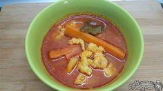 Fokhagymás-nokedlis leves Thai Red Curry, Soup, Ethnic Recipes, Soups