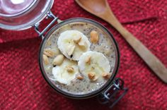 Banaan Pindakaas Chiazaad Pudding | De Bakparade