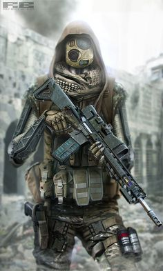 Apocalypse Cyborgs by Rolf Bertz on ArtStation. Fantasy Character, Sci Fi Fantasy, Character Concept, Character Art, Concept Art, Apocalypse, Airsoft Girls, Science Fiction, Killzone Shadow Fall