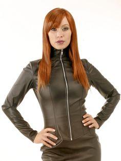 Honour Women's Sexy Mistress Jacket Coat in Leather Look Black Fetish Costume   eBay