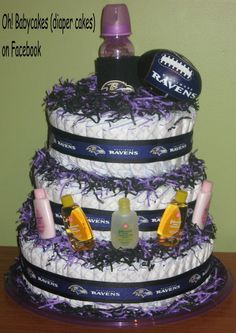 Baby Shower Food For Girl, Baby Shower Cakes, Baby Shower Themes Neutral, Easy Meatloaf, Recipe Girl, Roasted Salmon, Cakes For Boys, Baltimore Ravens, Diaper Cakes