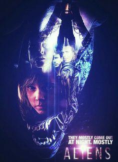 ALIENS Aliens 1986, Aliens Movie, Alien Movie Series, Horror Posters, Film Posters, Alien Tattoo, Scary Monsters, Alien Vs Predator, Sci Fi Horror
