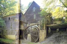 This is how the mill looked in the good old days. Started in 1914 by Ralph Tharpe