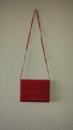 Vintage 80's Red Silk Purse