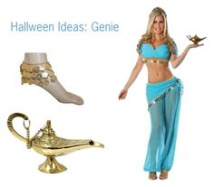 """""""I Dream of Genie"""" by selenastagg ❤ liked on Polyvore featuring Halloween and costumes"""