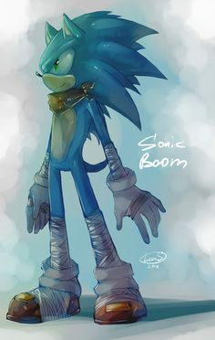 Sonic Boom by LeonStar123.deviantart.com on @deviantART (What is with all of the athletic tape, though?)