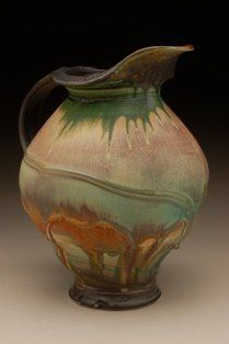 Steven Hill Pitcher. So pretty. I love all of the colors he uses. The ones that are almost all blue are wonderful. #pitcher