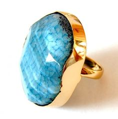 Blue Agate Ring -  by Taolei