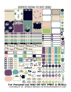 Free Printable Reformatted Succulents Sampler for Personal Size Planners from myplannerenvy.com