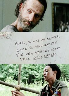 New world needs Rick Grimes