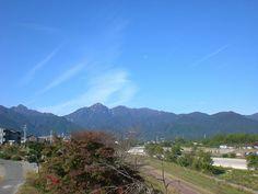 菰野町菰野地区 鎌ヶ岳、御在所岳  平成24年11月4日撮影