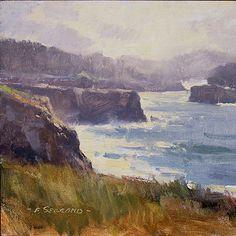 Frank Serrano, Plein Air Oil Paintings, California Plein Air Painter, Waterhouse Gallery Santa Barbara, California