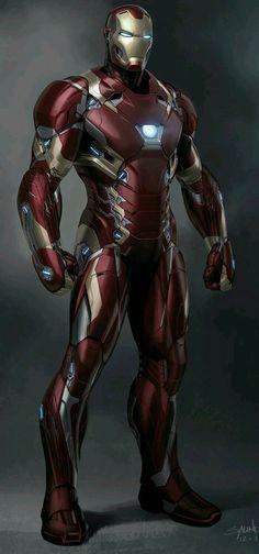 Arte conceitual do Homem de Ferro.