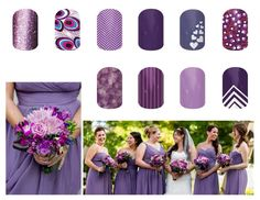 Wedding party with coordinating jamberry!! www.markedmamanails.jamberrynails.net