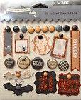 NEW My Minds Eye 22 DECORATIVE BRADS Halloween Stickers HAPPY HAUNTING HAH114