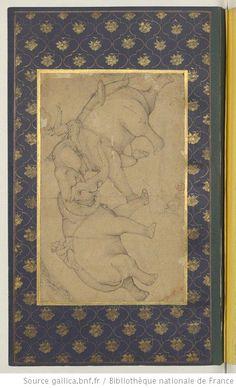 [Album de miniatures indiennes : scènes de genre, illustrations botaniques, scènes de la vie quotidienne, calligraphies] : [peinture]
