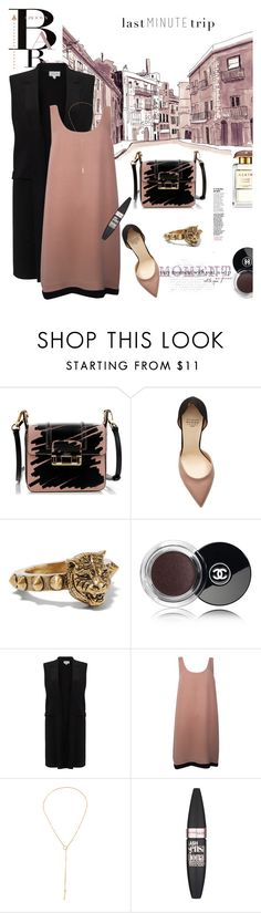 """""""Last Minute Trip"""" by tinkabella222 ❤ liked on Polyvore featuring Lanvin, Francesco Russo, Gucci, Chanel, November, Jigsaw, Joie and Maybelline"""