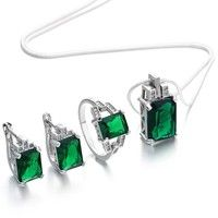 Metal Type: 925 Sterling Silver Main Stone: Emerald, Sapphire Ring Size: 6, 7, 8, 9, 10 Package Inc