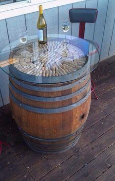 Cool wine barrel table